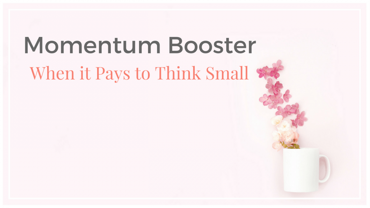 Think Smaller to Increase Momentum
