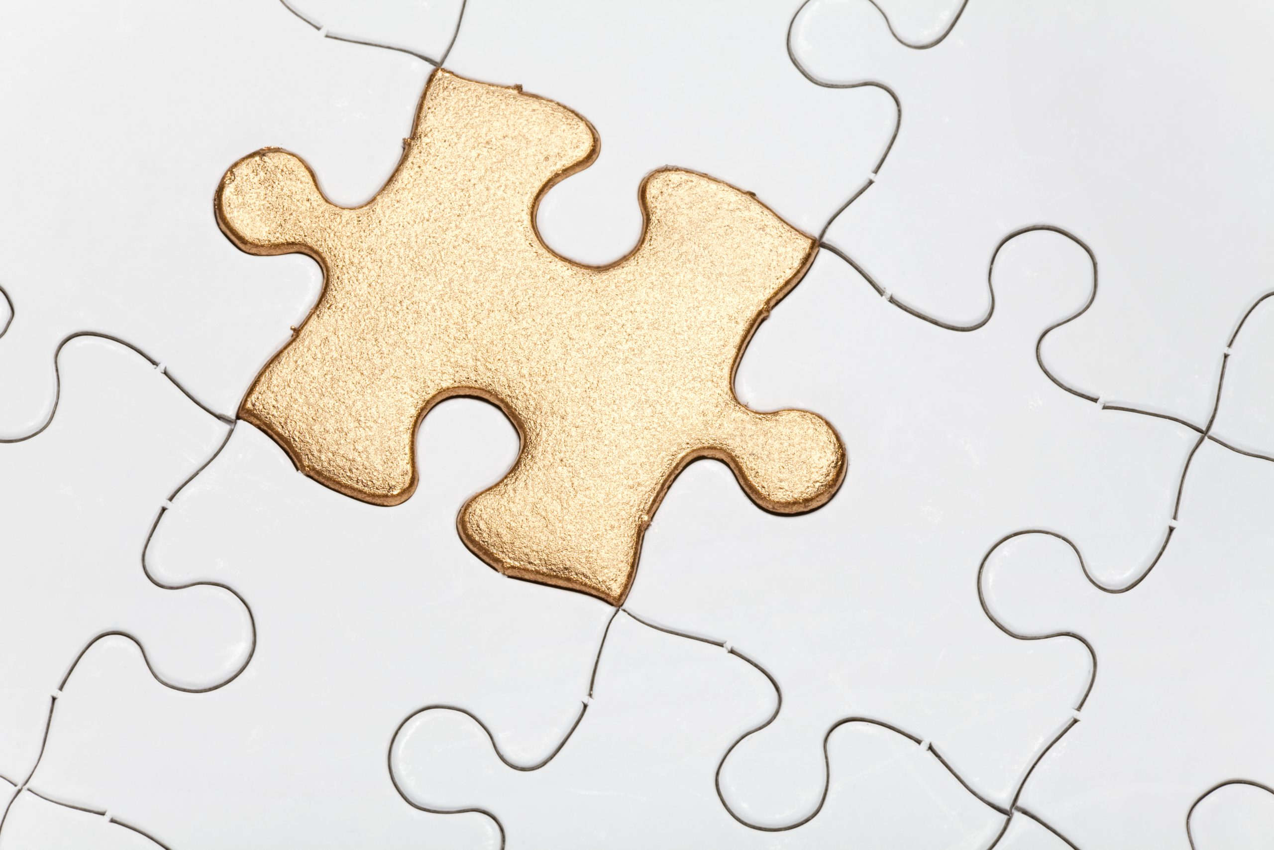 Get Over Perfectionism Golden Puzzle Piece